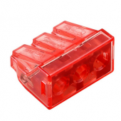 10Pcs Push Wire adapter Compact Wiring Quick Connector 3Pin Terminal Block