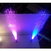 Rotating Fiber Optic Spray Light G4 MR16 Spray Lamp Novelty Lighting 4pcs