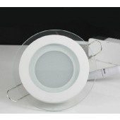 12W Glass LED Panel Light D160mm Modern Round Ceiling Downlight
