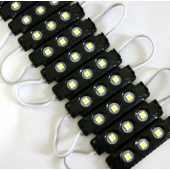 20pcs 3 LEDs DC12V Waterproof 5050 LED Module Injection Black ABS Plastic