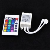 24 key Infrared LED RGB Controller 12V IR Remote Control 5pcs