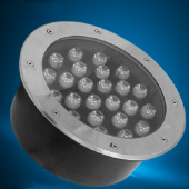 24W High Power LED Inground Lighting IP65 RGB/R/G/B/W Optional Lamp