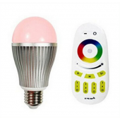 2.4G E27 RGBW LED Bulb Lamp Brightness Color Temperature RF Remote Controller