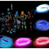LED Neon Sign Flexible Light Glow EL Wire Car Party Costume Decoration 2pcs