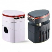 2USB World Travel Charger Adapter All in one Converter US/UK/AU/EU Plug