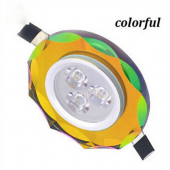 3W Colorful LED Ceiling Downlight Recessed Lighting Lamp Round Shape Lights