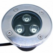 3x1W LED Underground Light 30 Degree Beam Angle R/G/B/W Optional Lamp