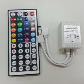 44 Key RGB Controller IR Remote Control with 2 outputs DC 12V