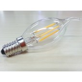 4W E12 E14 LED Filament Bulb Candelabra Spotlight Lighting Candle Lamp 4pcs