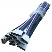 5pcs LED Strip 5 Pin Connector Male Female RGBW Strip Wire 5P Cable 22AWG 5 Colors for 12V running strip RGB Extension