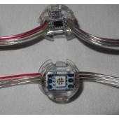 50pcs 5V WS2811 5050 LED Pixel Module IP68 Transparent Wire Flat Covered