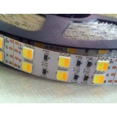 5M 12V 5050 120LEDs/m LED CT Color Temperature Adjustable Strip Light