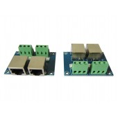 Terminal Adapter RJ4 3P to RJ45 Converters Plate DMX Controller Decoder RJ45-3P