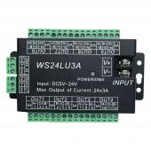 24CH Easy DMX512 DMX Decoder LED Dimmer Controller DC5V-24V WS24LU3A