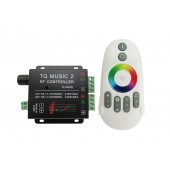 RGB Music2 LED Controller DC 12V-24V Max 18A With 6 Key Remote Control