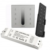 LTECH AC 110V-240V DX5 Touch Panel Wall Mount 2.4G Wireless 4 Zones LED Dimmer Controller DMX512 Ouput V5 Remote R4-5A R4-CC Receiver