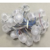 BLUE Color 50pcs DC12V 20mm Diameter IP68 Rated Transparent Wire Clear Cover