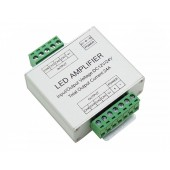 4 Circuit Aluminum Shell RGBW LED Signal Amplifier 4 Channel 6A/Ch Common Anode