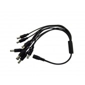 3 Pcs Brand New 2.1mm 2.5mm DC Power Splitter Adaptor Cable Female to Male CCTV Camera 1 to 9 40CM