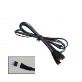 100cm RGB Extension Cable 4 Conductor for 5050 LED Strips 12 Pcs