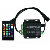 IR Music RGB LED Controller 2 Channel 4A/Ch DC 12V-24V