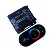 RGB LED Sync Controller 3 Channels 8A/Ch DC 12V-24V with Touch Panel RF Control