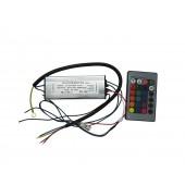 DC 18V-35V 600mA 50W RGB LED Driver Input AC 110V-250V with IR Remote Control