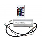 Waterproof DC 40V 600mA 60W RGB LED Driver With Remote Control