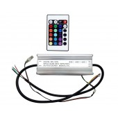 Waterproof DC 40V 600mA 60W RGB LED Driver With Remote Control BY-DR60RGB