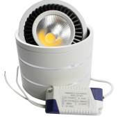 COB Ceiling Downlight 360 Degree Rotation LED Spotlight With Driver