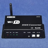 DC 12V WiFi DMX Converter Controlled by Cellphone iPhone Ipad