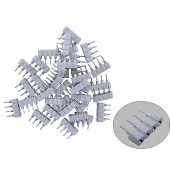 65 Pcs 4 Pin Female Connectors For 5050 LED Strips White Black