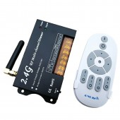12V 24V RF Remote wireless 4 Zone multi Function 4A CH dimming Controller for led strip Strip use DM16