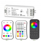 New Led RGB Strip Controller 12V 24V V3 Controller 4A 3CH with RF Wireless Mini Remote for 5050 3528 RGB flexible Strips ribbon