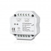 S1-B Led Triac Dimmer Controller 2.4GHz RF Wireless Remote Input voltage100-240VAC Output 100-240VAC 1A Push Dimmer Switch