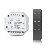 New S1-B Led Triac Dimmer AC 100-240V Input voltage Output 100-240VAC 2.4GHz RF Wireless Remote R1 Push Dimmer Switch Controller