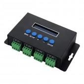 New Led Artnet-SPI Controller DC12V Led Pixel Controller Artnet to SPI Converter 2811 2801 6803 9813 IC pixel light controller