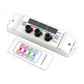 New Led RGB Strip Controller DC 12V 24V 6A 3CH Output 4096 Scale Level 37 Mode RF Remote Control 5050 3528 RGB Led Strip String