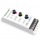 LTECH LT 330 8A LED RGB Controller DC5 24V Input 8A 3CH Output 25 modes RGB Strip Controller Knob Control Free Shipping