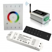 New UX8 Touch Panel Led RGB RGBW Controller 4 Zone Wifi 104 Wifi Dimming RGB Controller V8 Remote Wireless Receiver R4 5A R4 CC