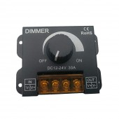 12V 24V 30A Max Easy Dimmer For Led Lamps Switch Metal Shell Knob Control Electric Shock Cover Strip Regulator