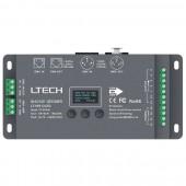 Ltech LT-995-OLED 5 Channel Led DMX512 Decoder DC 12V 24V Input 6A*5CH Max 30A output RGB RGBW Led Controller XLR-3 RJ45 Connector Port