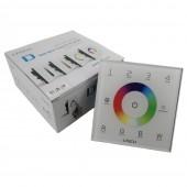 Ltech D8 DMX LED RGBW Strip Controller Wall mount touch DMX512 Control Panel DC 12V-24V 4 Zones DMX Master Controller