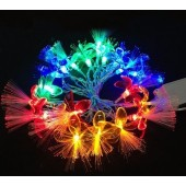 Mix Colors Petals 4M 20 LED Optic Fiber Light Flower String 2pcs