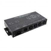 New AC 100V-240V input DMX512 1 to 4 DMX Hub DMX Signal Repeater Splitter 4 XLR Output Ports DMX Signal Distributor HUB DMX124