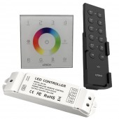 New Ltech DX8 rgbw touch panel led controller 4 Zones RF 2.4G DMX512 master RGBW wall mounted,for rgbw strip led panel dx8