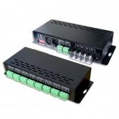 New LTECH LT-880-350 Led DMX Decoder 16CH CC RGB Strip DMX Decoder DC 12V 48V In 350mA*16CH Output DC 3V 42V Output 16 Channel DMX-PWM Decoder