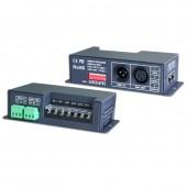 New LTECH LT-840-350 Led DMX Decoder 4CH CC RGB Strip DMX Decoder DC 12V 48V in 700mA*4CH output DC 12V 46V Output 4 Channel DMX-PWM Decoder