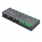 LTECH LT-924 New Ltech Led DMX Decoder DC 12V 24V Input 3A*24CH Max 72A 1728W output 24 Channel DMX CV Decoder XLR 3 RJ45 Led RGB Strip Use