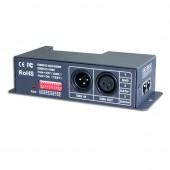 New LTECH LT-840-6A LED DMX Decoder DC 12V 24V 6A*3CH Max 24A XLR-3 Green terminal 0-100% Dimming Range Led RGB RGBW Strip CV DMX decoder